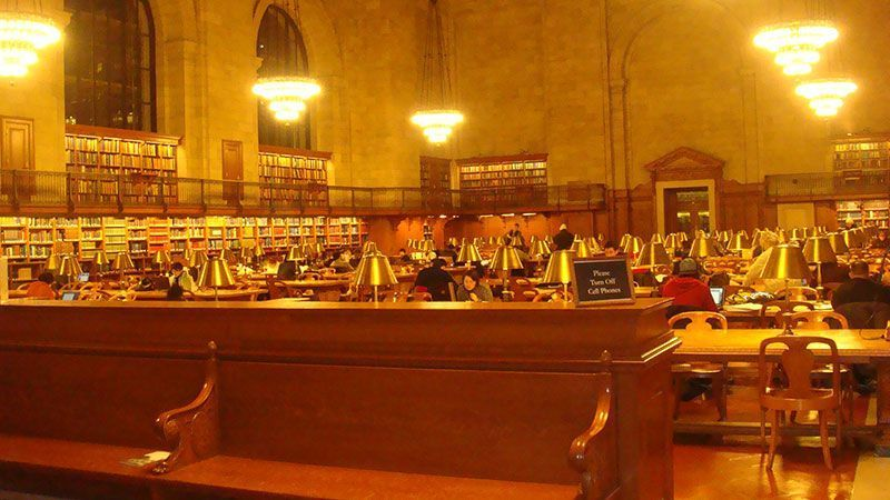interior New york public library