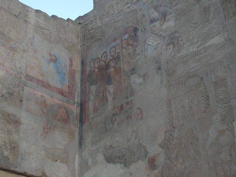 Pinturas cristianas en el Templo de Luxor