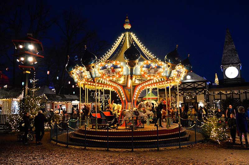 Decoración Navidad en Copenhague Tivoli