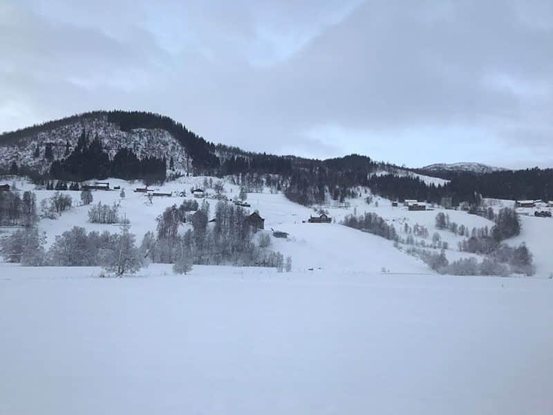 noruegos en invierno