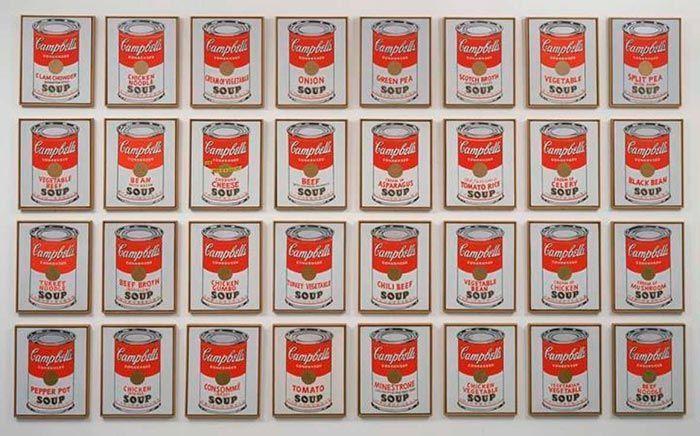 latas de sopa Campbell Warhol