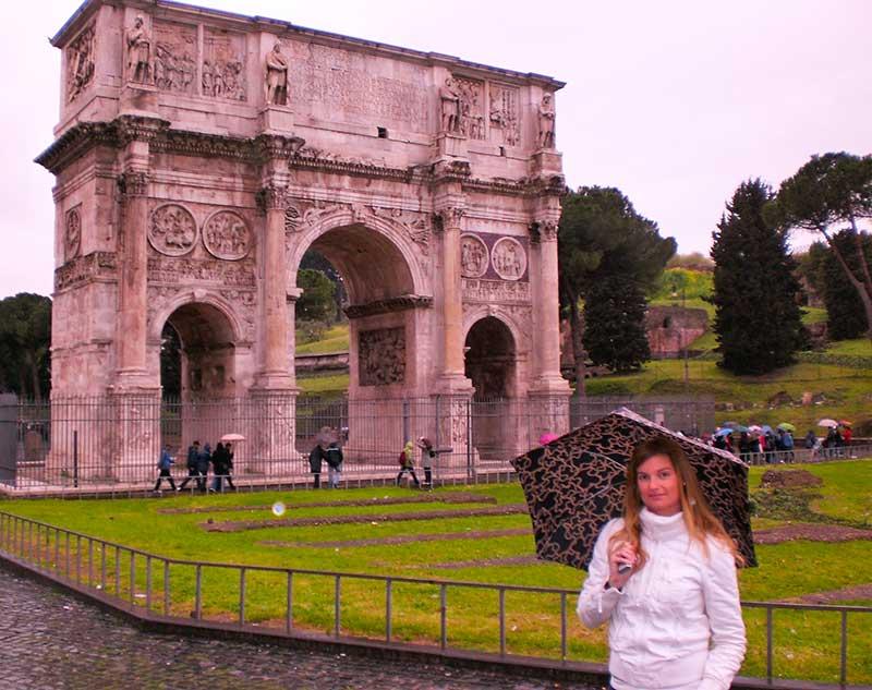 que ver en roma Arco de Constantino