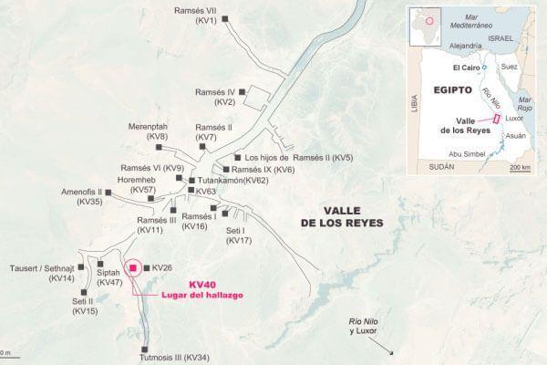 mapa valle de los reyes
