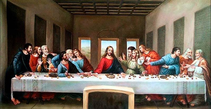 La última cena. Leonardo da Vinci.