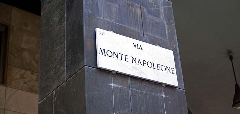 Via Monte Napoleone Milán