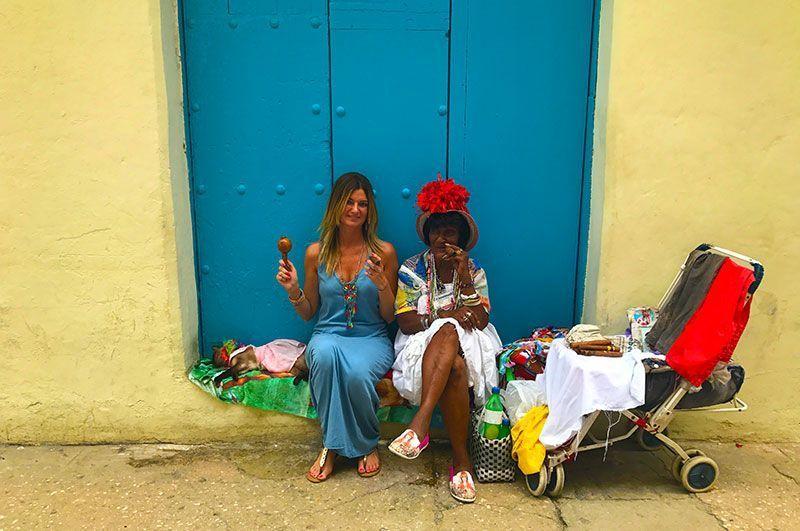 Auténtica cubana en la calle Mercaderes