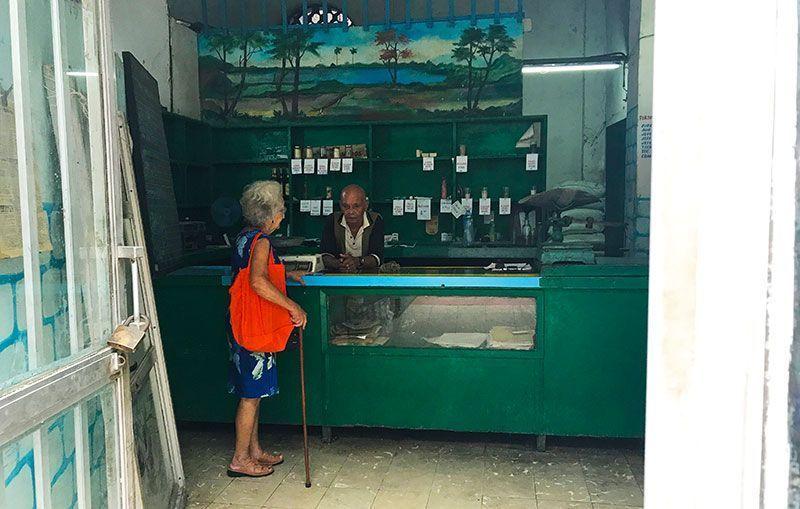 Tienda vacía en Habana centro