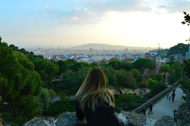 Vistas a la Barcelona desde Parc Guell