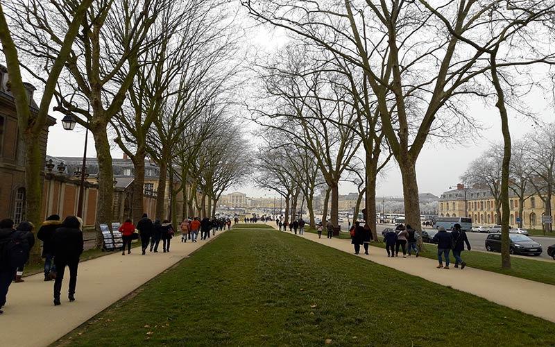 Camino a Palacio de Versalles