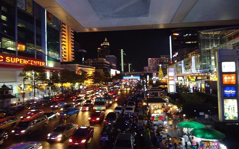 Zona comercial de Bangkok