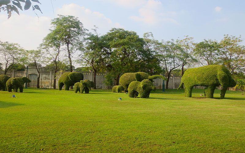 Jardines del Palacio de Verano Bangkok