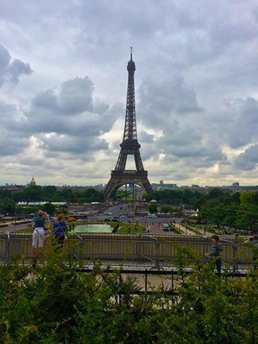 Vistas a la Torre Eiffel desde el Trocadero