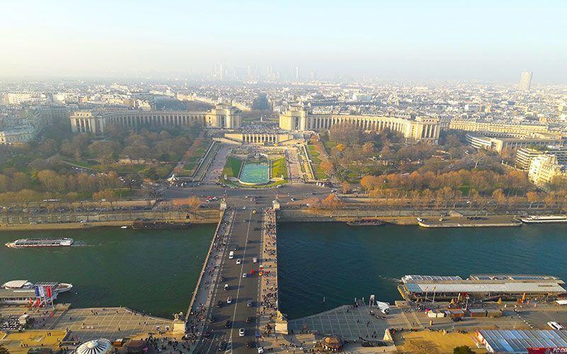 Vistas al Trocadro desde la Torre Eiffel