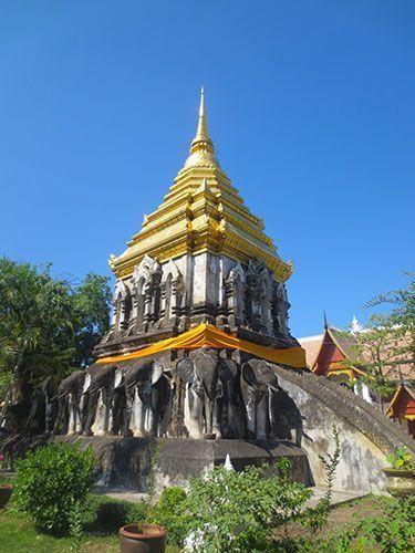 Pagoda Chedi Chang Lom mejores templos de Chiang Mai